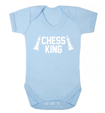Chess king Baby Vest pale blue 18-24 months