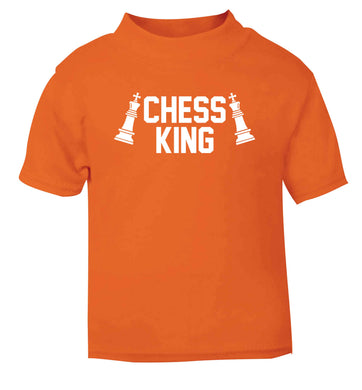 Chess king orange Baby Toddler Tshirt 2 Years