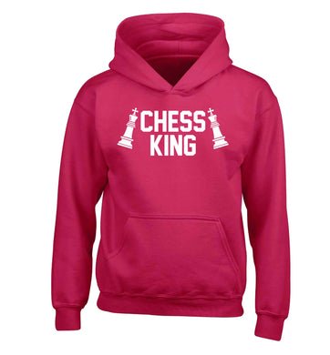 Chess king children's pink hoodie 12-13 Years