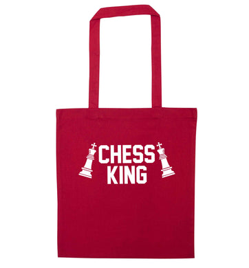 Chess king red tote bag
