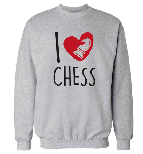 I love chess Adult's unisex grey Sweater 2XL