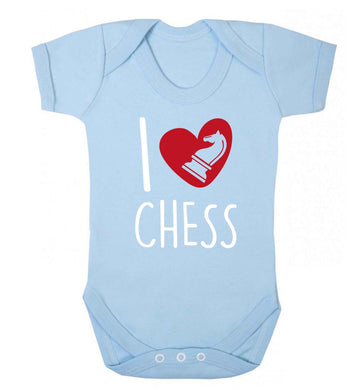 I love chess Baby Vest pale blue 18-24 months
