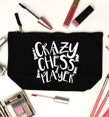 Crazy chess player black makeup bag