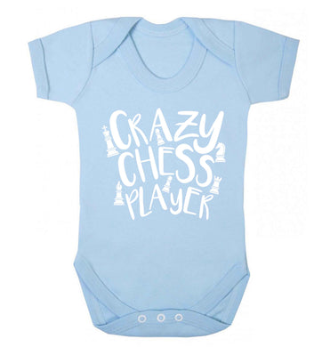 Crazy chess player Baby Vest pale blue 18-24 months