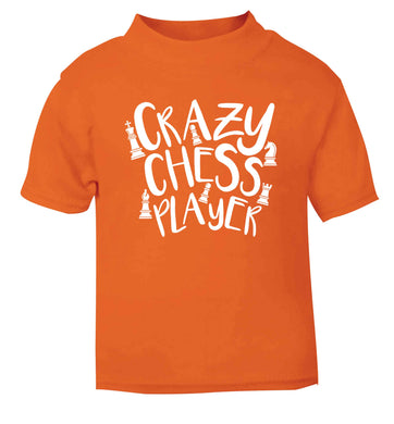Crazy chess player orange Baby Toddler Tshirt 2 Years