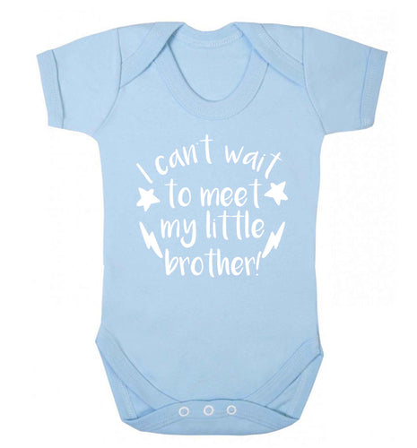 I can't wait to meet my sister! Baby Vest pale blue 18-24 months