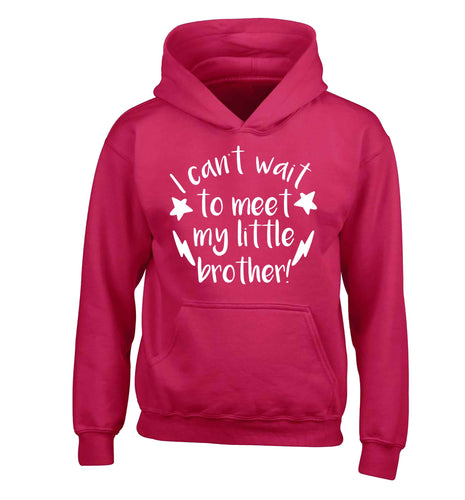 I can't wait to meet my sister! children's pink hoodie 12-13 Years