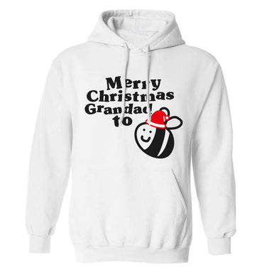 Merry Christmas grandad to be adults unisex white hoodie 2XL