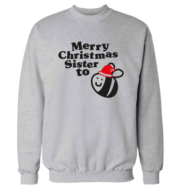 Merry Christmas sister to be Adult's unisex grey Sweater 2XL
