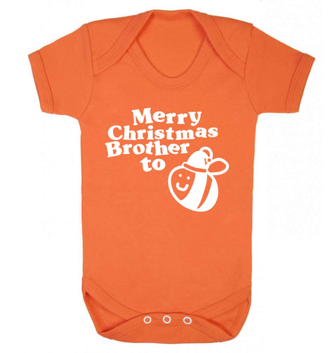 Merry Christmas brother to be Baby Vest orange 18-24 months