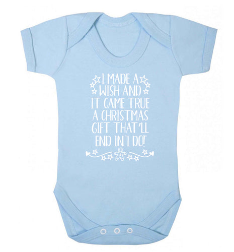 I made a wish and it came true a Christmas gift that'll end in 'I do' Baby Vest pale blue 18-24 months