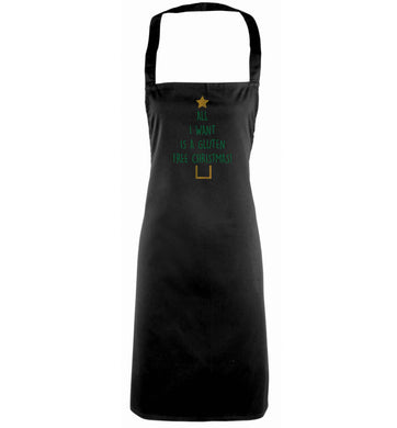 All I want is a gluten free Christmas black apron