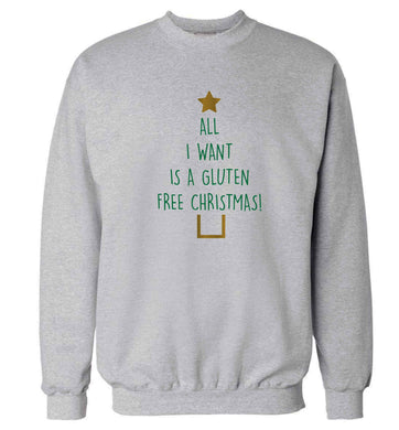 All I want is a gluten free Christmas Adult's unisex grey Sweater 2XL