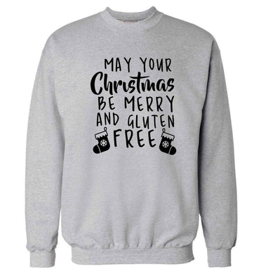 May your Christmas be merry and gluten free Adult's unisex grey Sweater 2XL