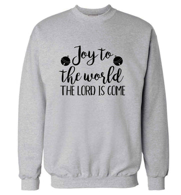 Joy to the World Lord adult's unisex grey sweater 2XL