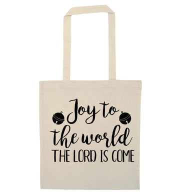 Joy to the World Lord natural tote bag