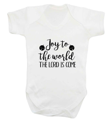 Joy to the World Lord baby vest white 18-24 months