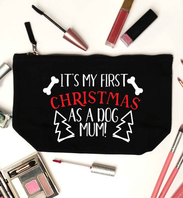 It's my first Christmas as a dog mum! black makeup bag