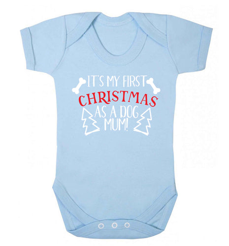 It's my first Christmas as a dog mum! Baby Vest pale blue 18-24 months
