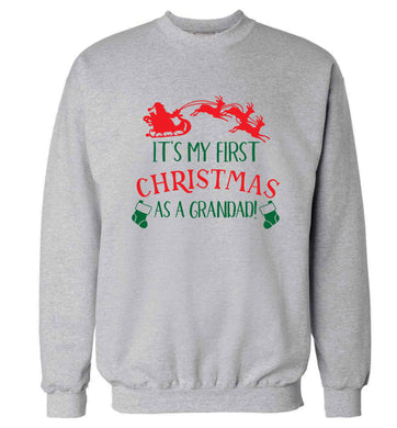 It's my first Christmas as a grandad! Adult's unisex grey Sweater 2XL