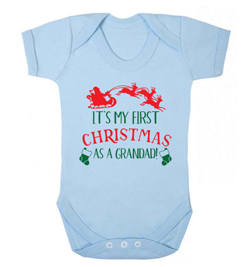 It's my first Christmas as a grandad! Baby Vest pale blue 18-24 months