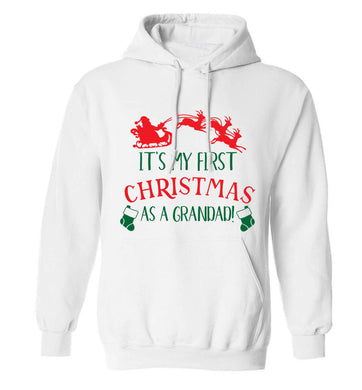 It's my first Christmas as a grandad! adults unisex white hoodie 2XL