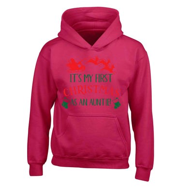 It's my first Christmas as an auntie! children's pink hoodie 12-13 Years