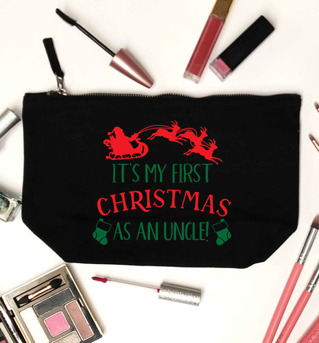 It's my first Christmas as an uncle! black makeup bag