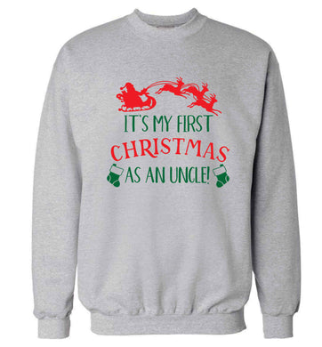 It's my first Christmas as an uncle! Adult's unisex grey Sweater 2XL