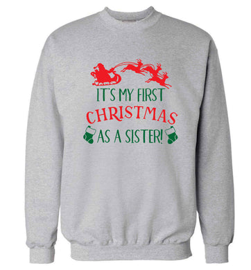 It's my first Christmas as a sister! Adult's unisex grey Sweater 2XL