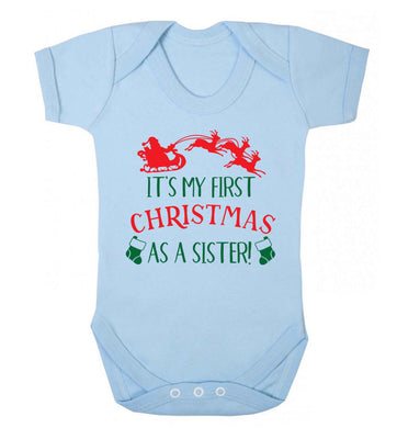 It's my first Christmas as a sister! Baby Vest pale blue 18-24 months