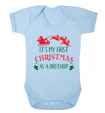 It's my first Christmas as a brother! Baby Vest pale blue 18-24 months