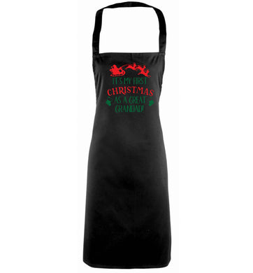 It's my first Christmas as a great grandad! black apron