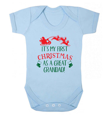It's my first Christmas as a great grandad! Baby Vest pale blue 18-24 months
