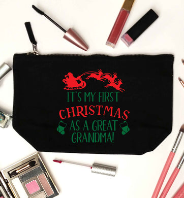 It's my first Christmas as a great grandma! black makeup bag