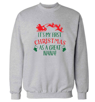 It's my first Christmas as a great nana! Adult's unisex grey Sweater 2XL