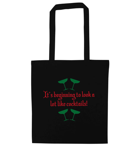 It's beginning to look a lot like cocktails black tote bag