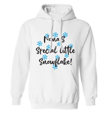 Nana's special little snowflake adults unisex white hoodie 2XL