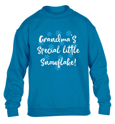 Grandma's special little snowflake children's blue sweater 12-13 Years
