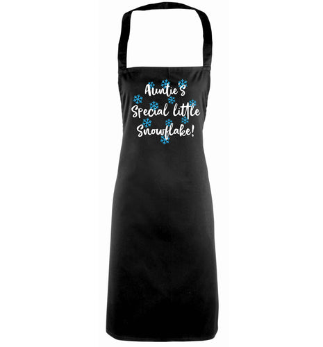 Auntie's special little snowflake black apron