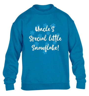 Uncle's special little snowflake children's blue sweater 12-13 Years