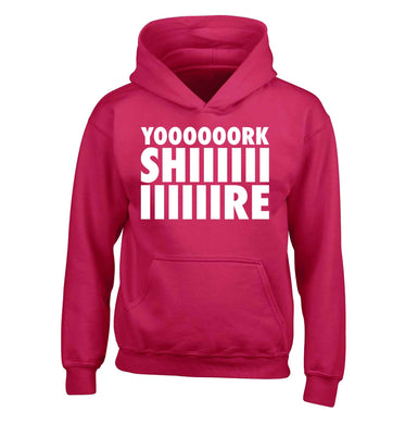 Yoooorkshiiiiire children's pink hoodie 12-13 Years