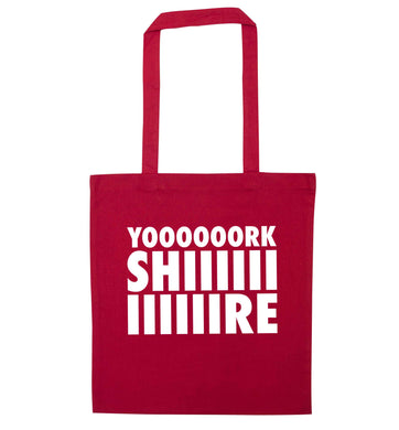 Yoooorkshiiiiire red tote bag