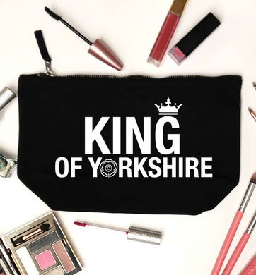 King of Yorkshire black makeup bag