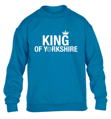 King of Yorkshire children's blue sweater 12-13 Years