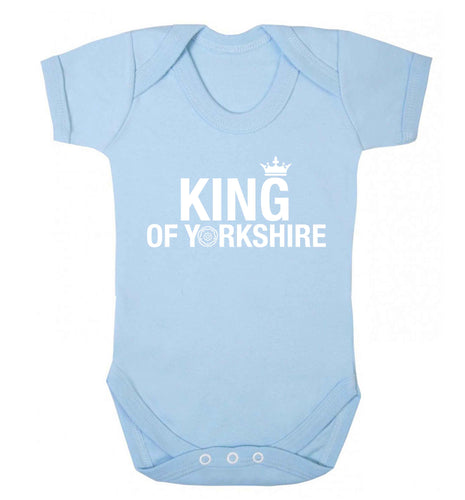 King of Yorkshire Baby Vest pale blue 18-24 months