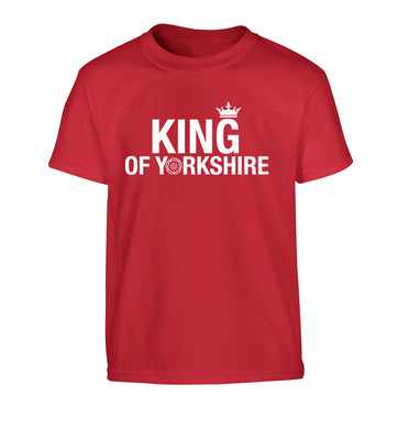King of Yorkshire Children's red Tshirt 12-13 Years