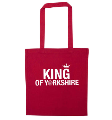 King of Yorkshire red tote bag