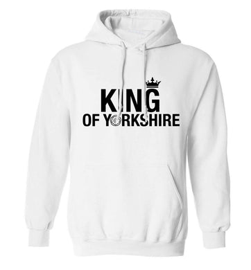 King of Yorkshire adults unisex white hoodie 2XL