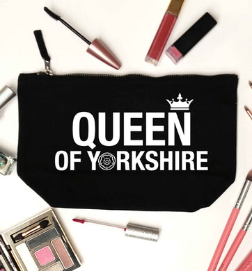 Queen of Yorkshire black makeup bag